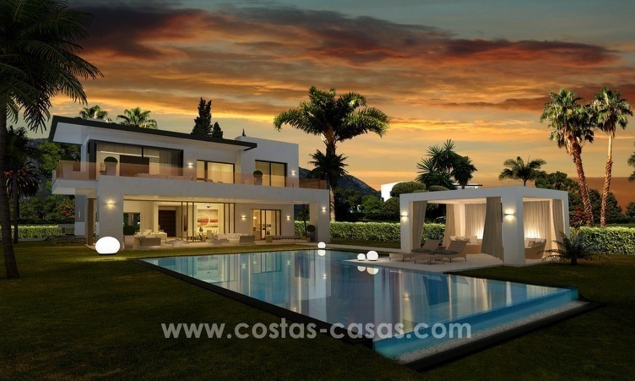 Brand New luxury contemporary Villas for sale on the Golden Mile, Marbella 4
