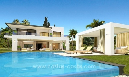 Brand New luxury contemporary Villas for sale on the Golden Mile, Marbella 1