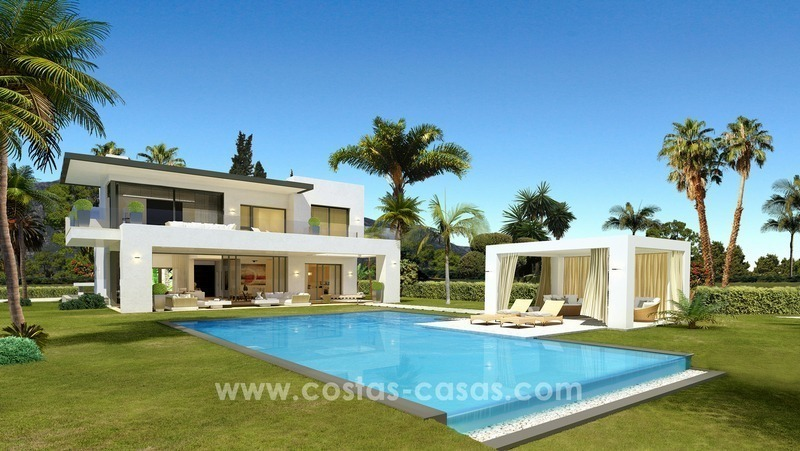 Brand New luxury contemporary Villas for sale on the Golden Mile, Marbella