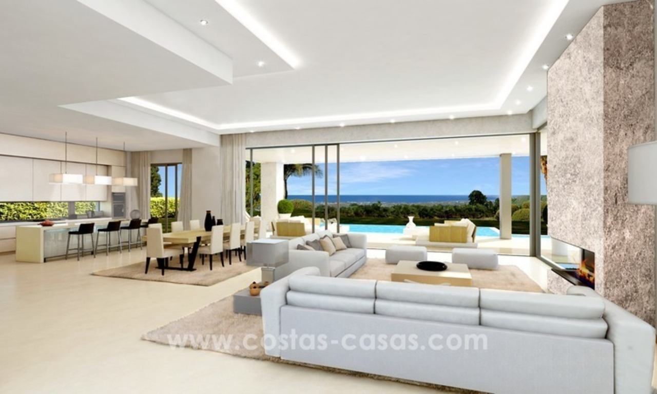 Brand New luxury contemporary Villas for sale on the Golden Mile, Marbella 7