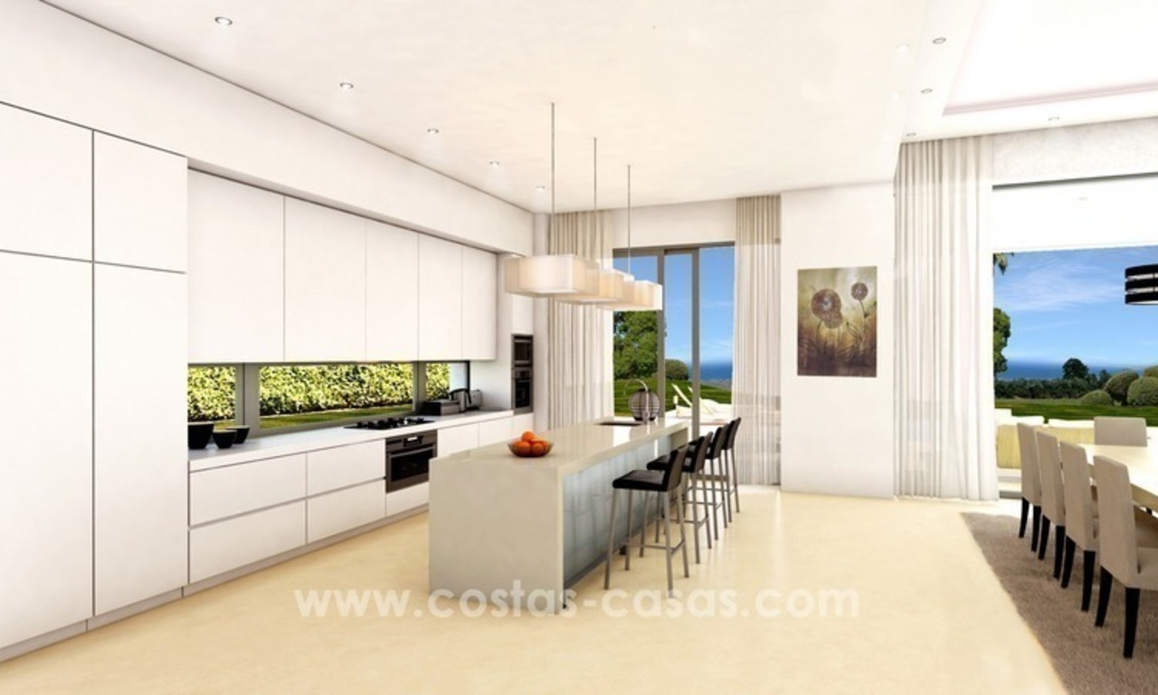 Brand New luxury contemporary Villas for sale on the Golden Mile, Marbella 9