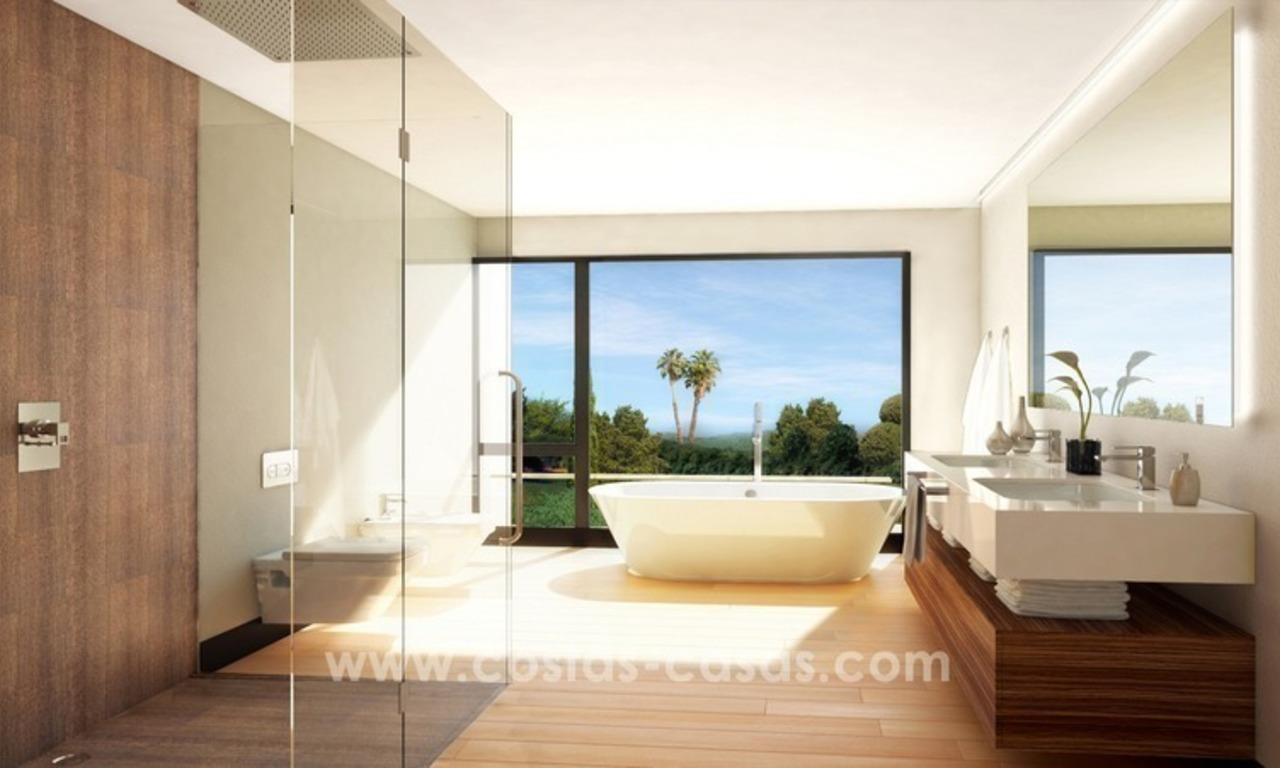 Brand New luxury contemporary Villas for sale on the Golden Mile, Marbella 13