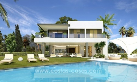 New modern luxury Villas for sale on the Golden Mile, Marbella