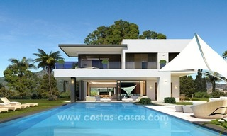 Brand New modern Villas for sale on the Golden Mile, Marbella 1