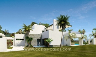 Contemporary luxury Villas for sale on the Golden Mile, Marbella 2