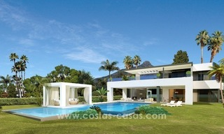 Contemporary luxury Villas for sale on the Golden Mile, Marbella 1