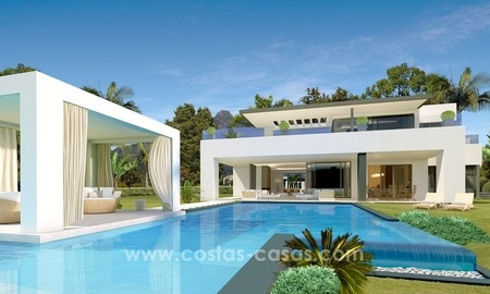 Contemporary luxury Villas for sale on the Golden Mile, Marbella