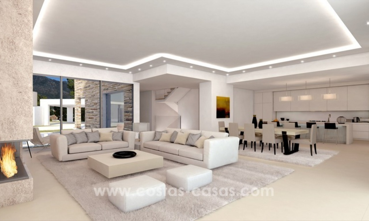 Contemporary luxury Villas for sale on the Golden Mile, Marbella 7