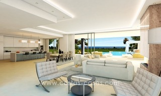 Contemporary luxury Villas for sale on the Golden Mile, Marbella 9