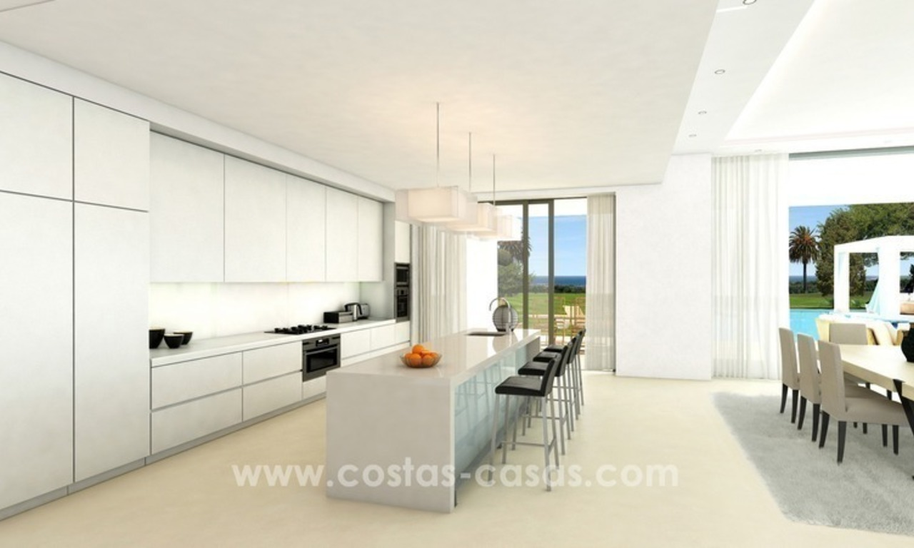 Contemporary luxury Villas for sale on the Golden Mile, Marbella 10