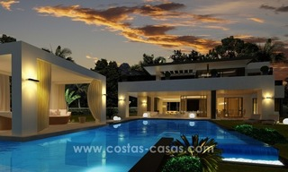 Contemporary luxury Villas for sale on the Golden Mile, Marbella 4