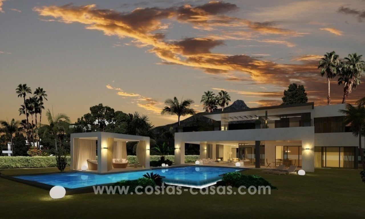 Contemporary luxury Villas for sale on the Golden Mile, Marbella 5