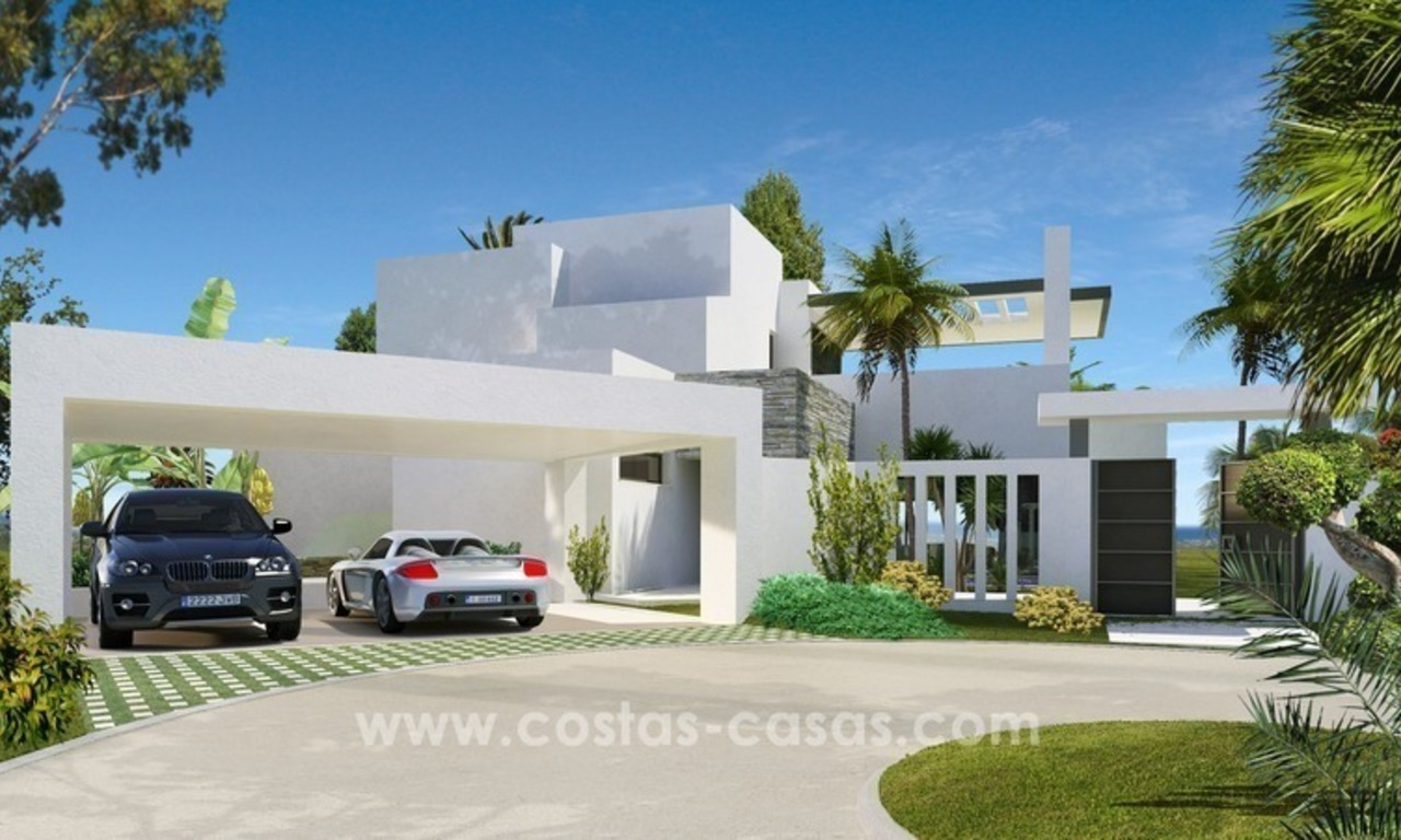 Contemporary luxury Villas for sale on the Golden Mile, Marbella 3