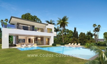 Modern new luxury Villas for sale on the Golden Mile, Marbella