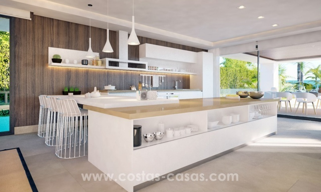 Front Line Beach Newly Constructed Contemporary Villa for sale on the New Golden Mile, Marbella - Estepona 11