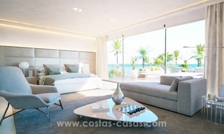 Front Line Beach Newly Constructed Contemporary Villa for sale on the New Golden Mile, Marbella - Estepona 12