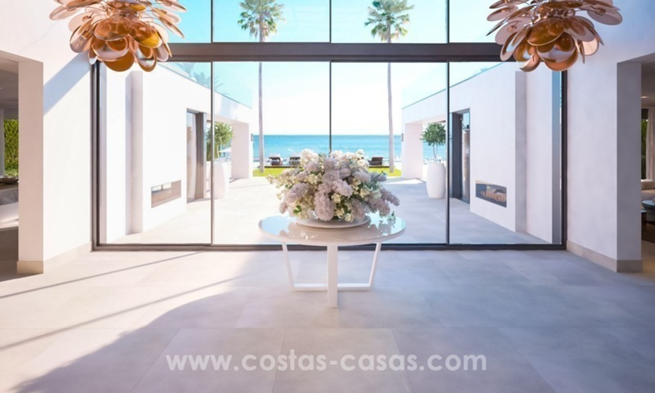 Front Line Beach Newly Constructed Contemporary Villa for sale on the New Golden Mile, Marbella - Estepona 15