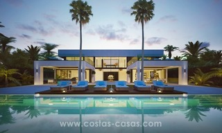 Front Line Beach Newly Constructed Contemporary Villa for sale on the New Golden Mile, Marbella - Estepona 3