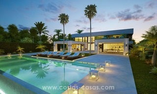 Front Line Beach Newly Constructed Contemporary Villa for sale on the New Golden Mile, Marbella - Estepona 2