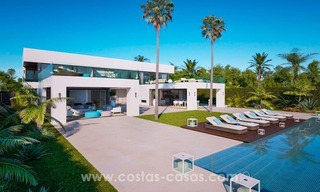 Front Line Beach Newly Constructed Contemporary Villa for sale on the New Golden Mile, Marbella - Estepona 1