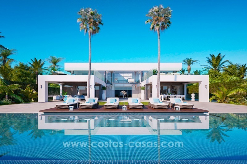 Front Line Beach Newly Constructed Contemporary Villa for sale on the New Golden Mile, Marbella - Estepona