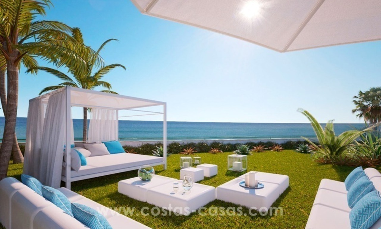 Front Line Beach Newly Constructed Contemporary Villa for sale on the New Golden Mile, Marbella - Estepona 6