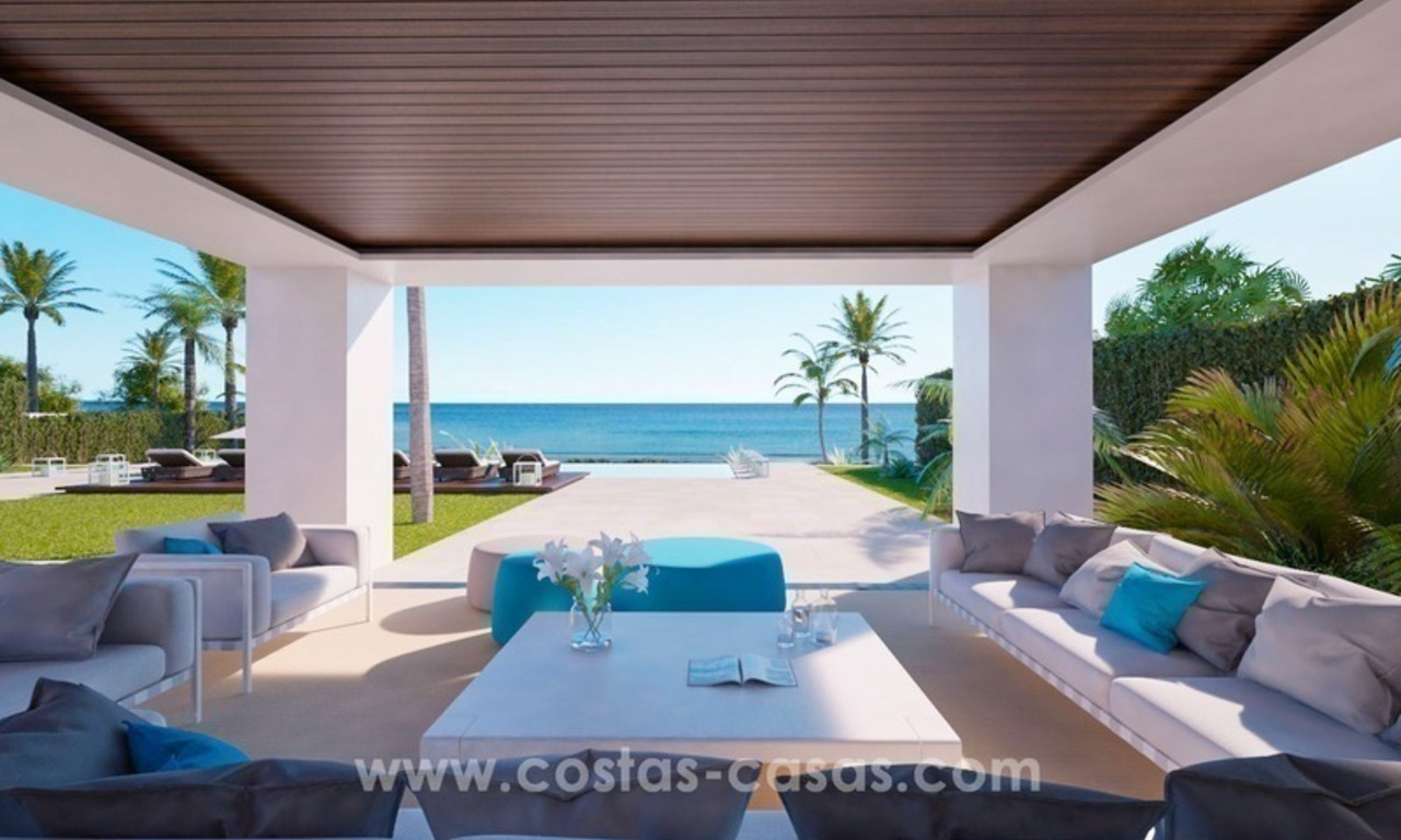 Front Line Beach Newly Constructed Contemporary Villa for sale on the New Golden Mile, Marbella - Estepona 9