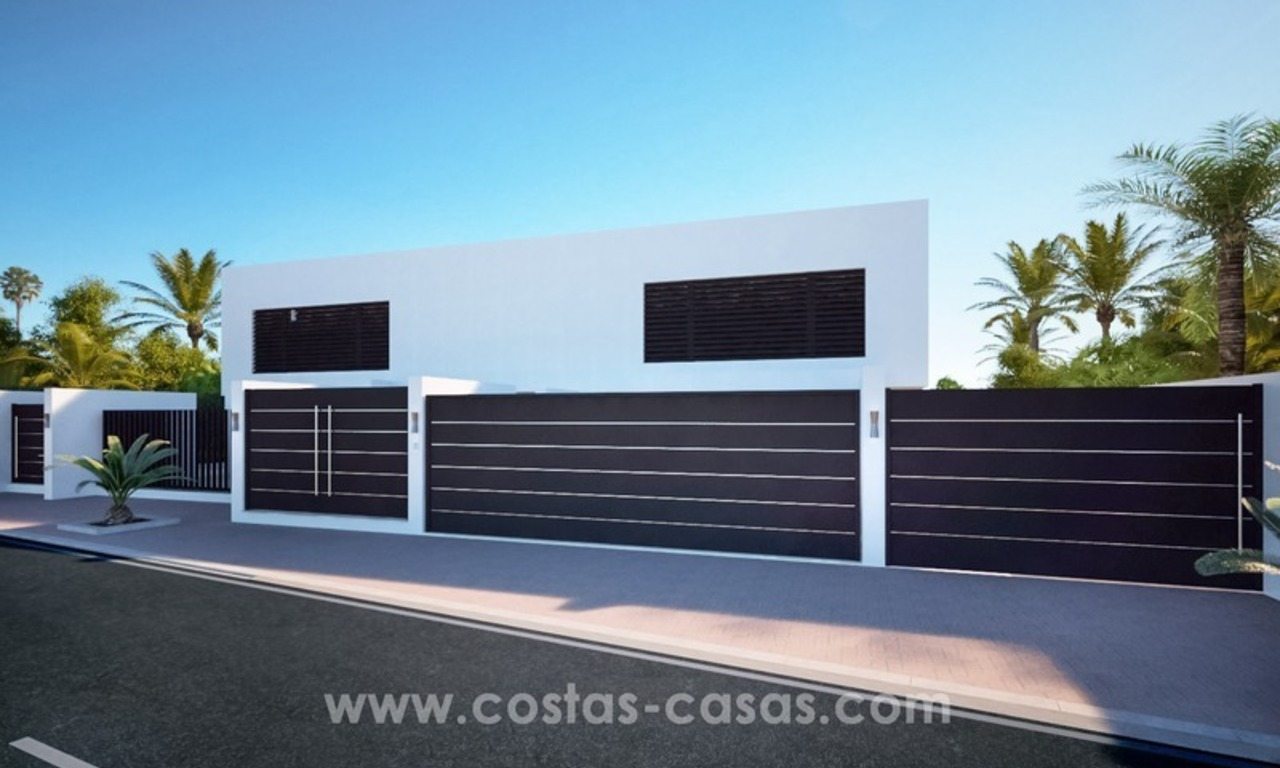 Front Line Beach Newly Constructed Contemporary Villa for sale on the New Golden Mile, Marbella - Estepona 5