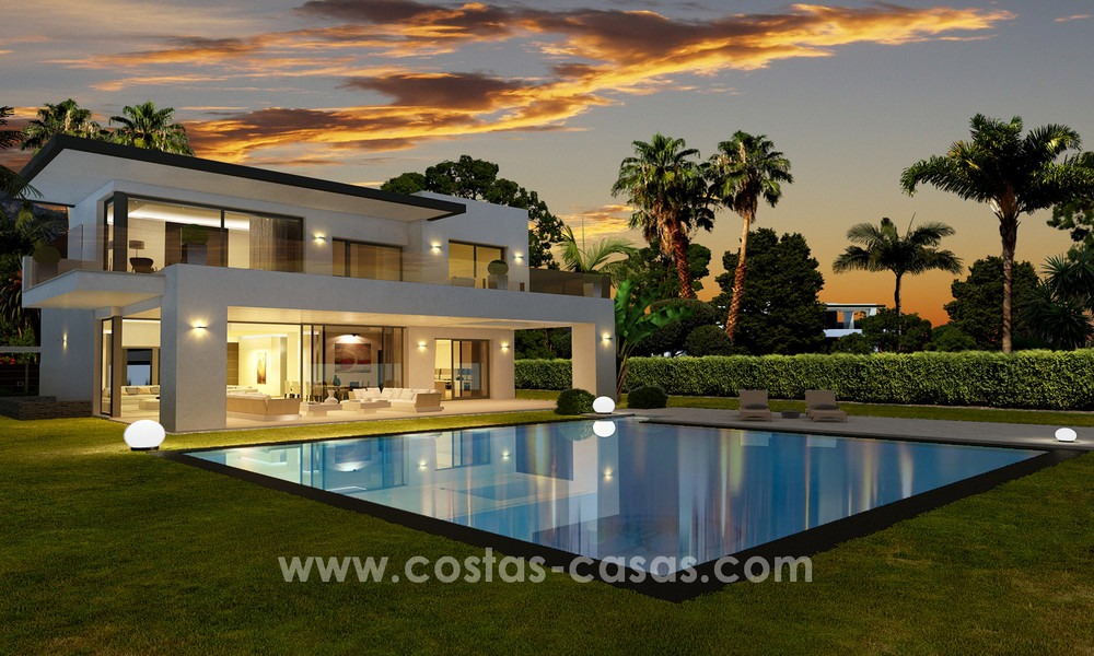 Brand New modern Villas for sale on the Golden Mile, Marbella 13052