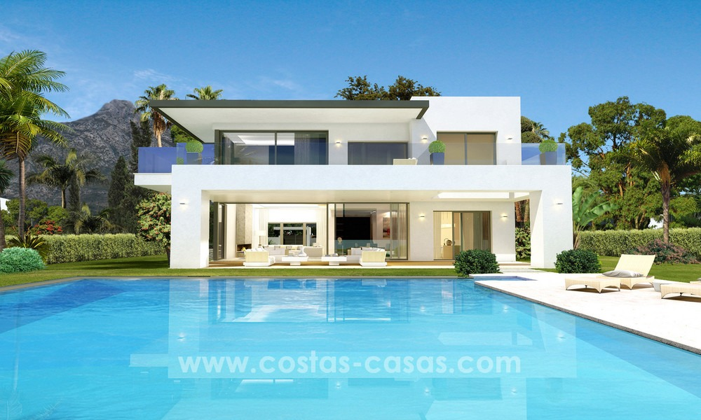 Brand New modern Villas for sale on the Golden Mile, Marbella 13056