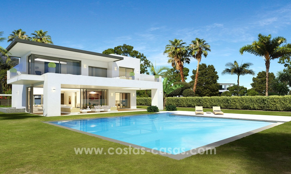 Brand New modern Villas for sale on the Golden Mile, Marbella 13057