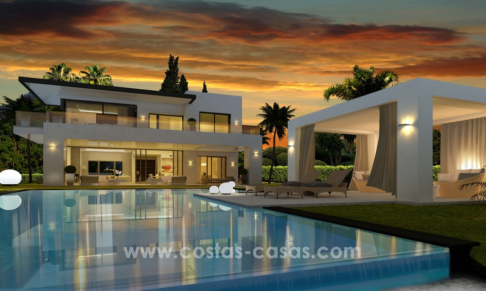 Brand New modern Villas for sale on the Golden Mile, Marbella 13034