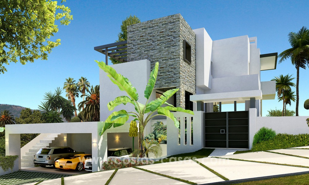Brand New modern Villas for sale on the Golden Mile, Marbella 13036