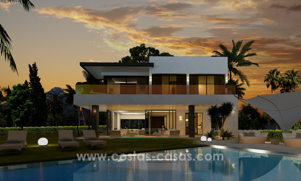 Brand New modern Villas for sale on the Golden Mile, Marbella 13074