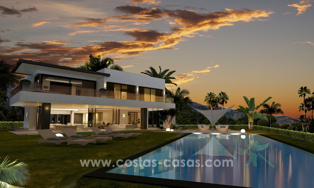 Brand New modern Villas for sale on the Golden Mile, Marbella 13075