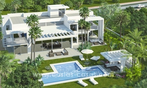 Modern designer Beach Side and golf villas for sale in Guadalmina, Marbella