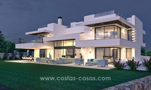 Modern second line Beach designer villa for sale in Guadalmin Baja, Marbella