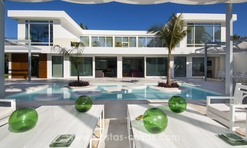 Brand New Beach Side Contemporary Villa for sale in Guadalmina Baja, Marbella
