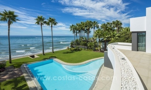 Modern Frontline beach villa for sale on the East of Marbella