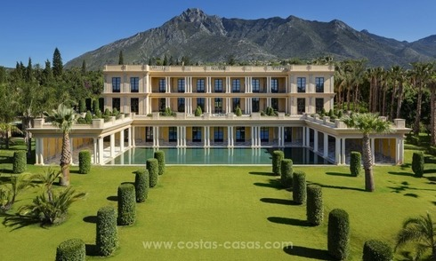Unique palatial mansion for sale on the Golden Mile, Marbella