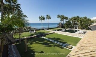 Frontline beach Balinese style villa for sale in the East of Marbella 1