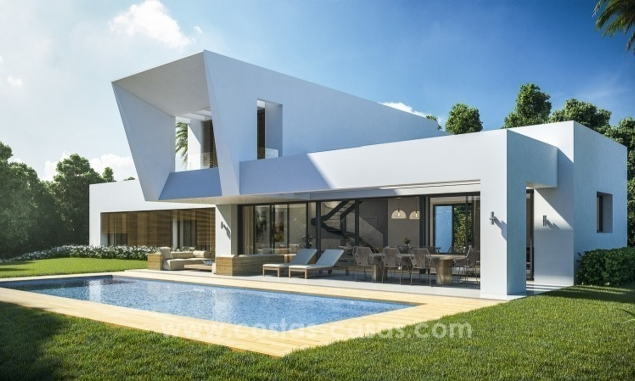 Brand new modern villa development for sale in marbella benahavis 0