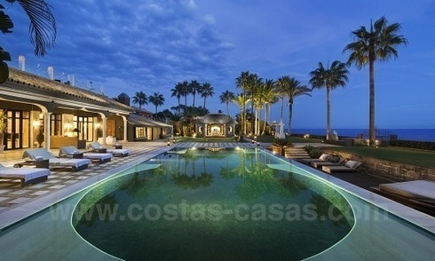 Frontline beach Balinese style villa for sale in the East of Marbella