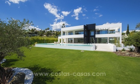 Modern Designer Villa Recently constructed for sale in Nueva Andalucía, Marbella