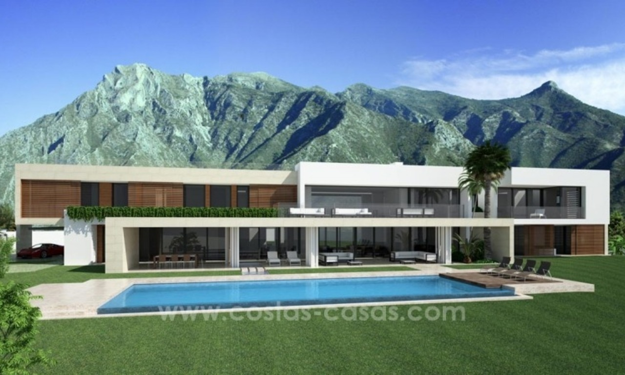 Modern newly built contemporary villa for sale on the Golden Mile, Sierra Blanca, Marbella 0