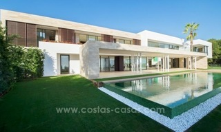 Modern newly built contemporary villa for sale on the Golden Mile, Sierra Blanca, Marbella 1