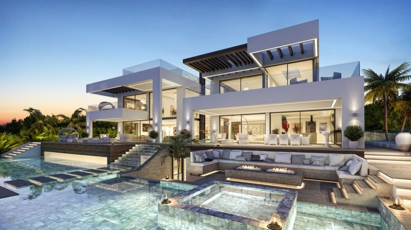 Modern contemporary ne villa for sale nueva andaluc a marbella - Ambience home design marbella ...