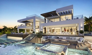 Contemporary villa with tennis court for sale in the heart of the Golf Valley, Nueva Andalucía, Marbella 3