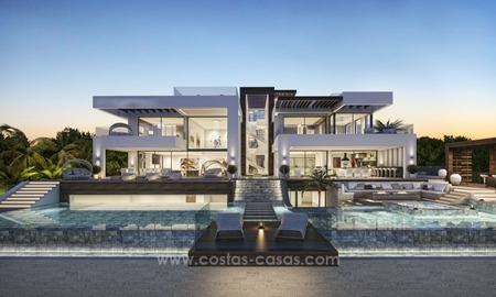 Contemporary villa with tennis court for sale in the heart of the Golf Valley, Nueva Andalucía, Marbella 2