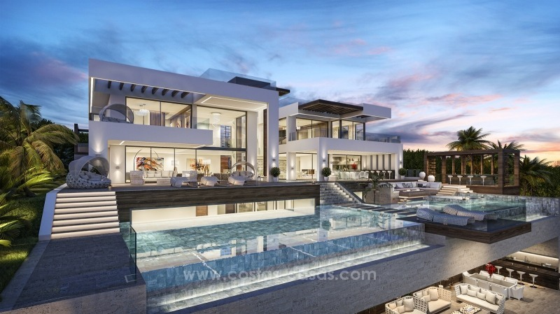 Contemporary villa with tennis court for sale in the heart of the Golf Valley, Nueva Andalucía, Marbella 1